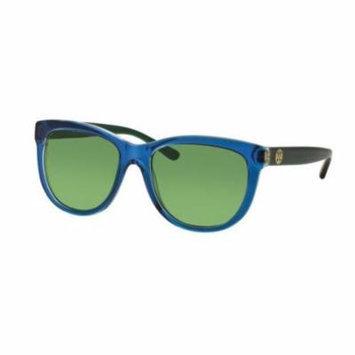 TORY BURCH Sunglasses TY7091A 15482 Blue Crystal/Racing Green 55MM