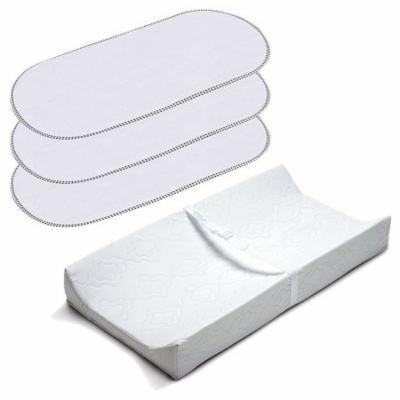 Summer Infant 2 Sided Contoured Changing Pad with Waterproof Changing Pad Liners