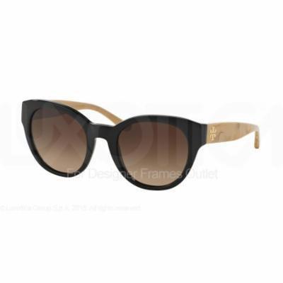 TORY BURCH Sunglasses TY 7080 140613 Black/White Oak 51MM