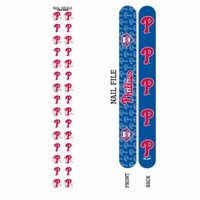 Bundle 2 Items: Philadelphia Phillies Nail File and Nail Sticker Decals