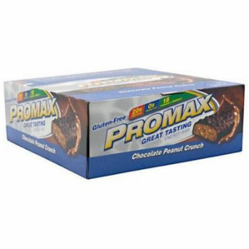 Promax Chocolate Peanut Crunch Protein Bars, 12 count
