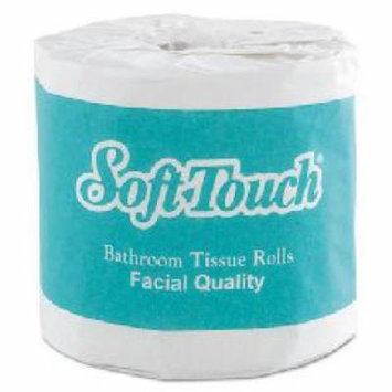 Soft Touch Individually Wrapped Bath Tissue, 1-Ply, White, 4.5x4,