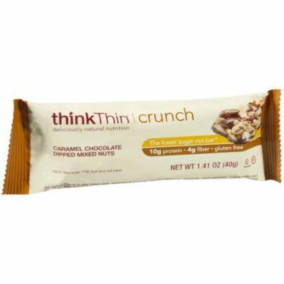 thinkThin Crunch Caramel Chocolate Dipped Mixed Nuts Protein Nut Bars, 1.41 oz, 10 count