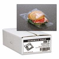 Jumbo Sandwich Bags, Fold Lock, 5 1/2 x 6 1/4, 0.7mil, Clear, 3000/Car