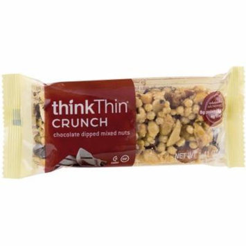 thinkThin Crunch Chocolate Dipped Mixed Nuts Protein Nut Bars, 1.41 oz, 10 count