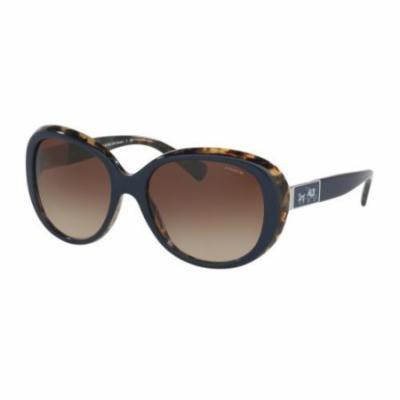 COACH Sunglasses HC8120 537913 Navy Milky Tortoise 57MM
