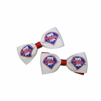 Philadelphia Phillies Hair Bow Pair