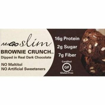 NuGo Slim Brownie Crunch Natural Bars, 1.5 oz, 12 count