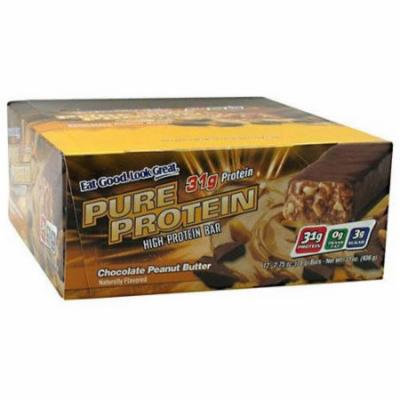 Pure Protein Chocolate Peanut Butter High Protein Bars, 2.75 oz, 12 count