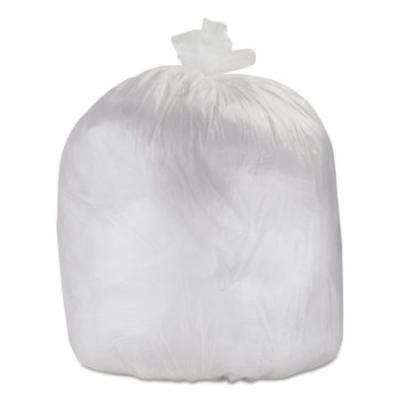 High-Density Can Liners, 43 x 48, 56-Gallon, 14 Micron, Clear, 200/Case