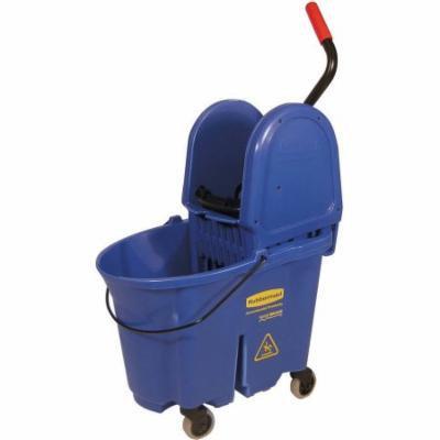 Rubbermaid Commercial Blue WaveBrake Bucket/Wringer Combo, 35 qt