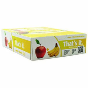 That's It Apple + Banana Fruit Bars, 12 count