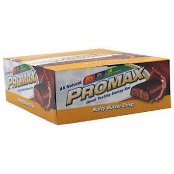 Promax Nutty Butter Crisp Protein Bars, 12 count