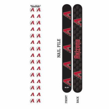 Bundle 2 Items: Arizona Diamondbacks Nail File and Nail Sticker Decals