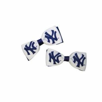 New York Yankees Hair Bow Pair