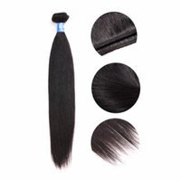 Brazilian Peruvian Malaysian Indian Silky Straight Human Hair Weft Extension 6A 12