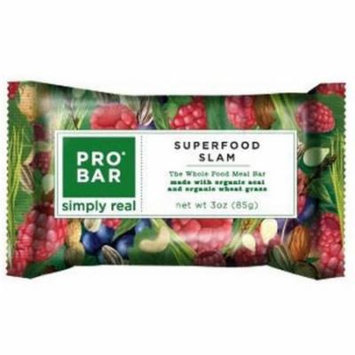 Pro Bar Peanut Butter Superfood Slam Whole Food Meal Bars, 3 oz, 12 count
