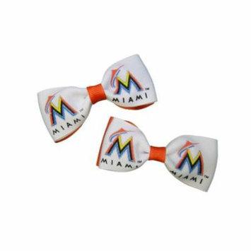 Miami Marlins Hair Bow Pair
