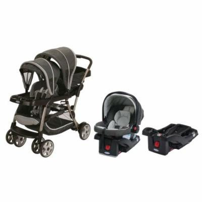 Graco Ready2Grow Click Connect LX Travel System + Extra Car Seat Base, Glacier