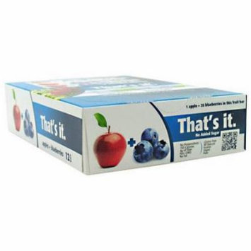 That's It Apple + Blueberry Fruit Bars, 12 count