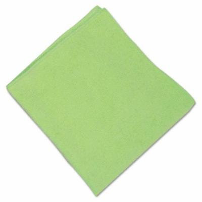 Microfiber Cleaning Cloths,16 x 16, Green, 12/Carton