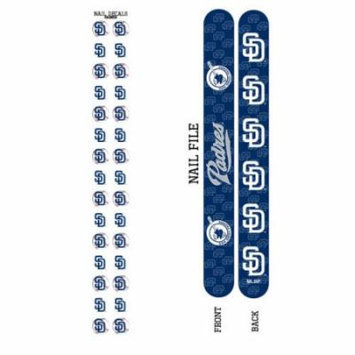 Bundle 2 Items: San Diego Padres Nail File and Nail Sticker Decals
