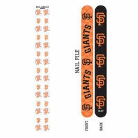 Bundle 2 Items: San Francisco Giants Nail File and Nail Sticker Decals