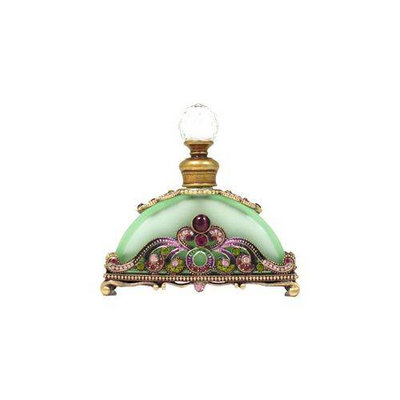 Welforth Perfume Bottle (Green with Purple and Clear Rhinestones)