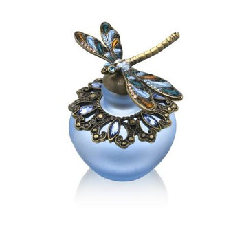 Welforth Dragon Fly Perfume Bottle with Blue Stone