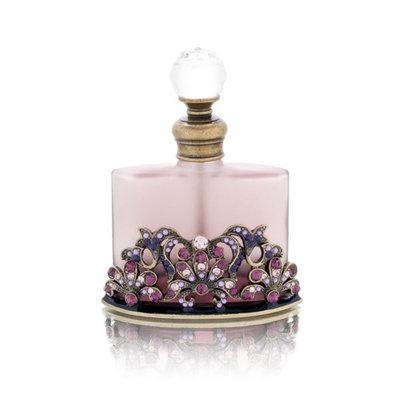 Welforth Purple Bottle with Purple Stones Decorative Perfume Bottle