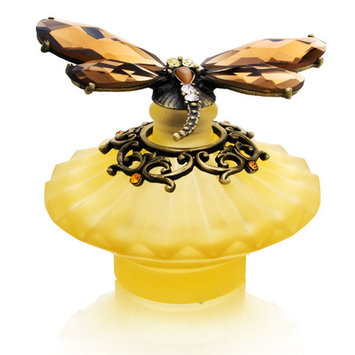 Welforth Amber Dragonfly Decorative Perfume Bottle Model No. PB-1028