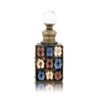 Welforth Square with Multi-Color Stones Decorative Perfume Bottle