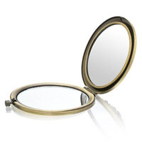 Welforth Flower Brass Mirror Compact Model No. M-108