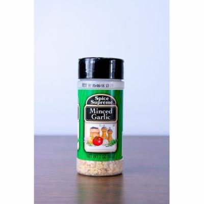 Pack of 12 Spice Supreme Minced Garlic Seasonings 2 oz. #38032