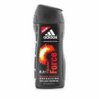 ADIDAS Team Force 2 In 1 Orange Extract Energising Hair & Body Shower Gel For Men