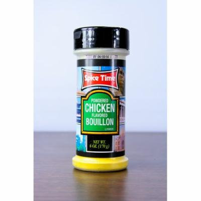 Pack of 12 Spice Time Powdered Chicken Flavored Bouillon Seasonings 6 oz #OO630