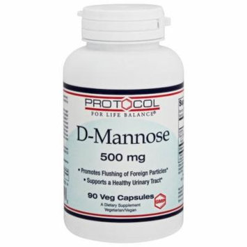 Protocol For Life Balance - D-Mannose 500 mg. - 90 Vegetable Capsule(s)