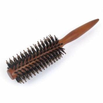 Brown Plastic Tapering Grip Brush Bristles Curly Hair Comb Hairbrush Makeup Tool