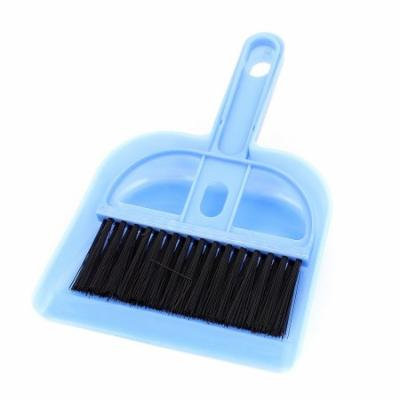 Car Dashboard Desktop Sofa Computer Keyboard Cleaning Brush Dustpan Set Blue