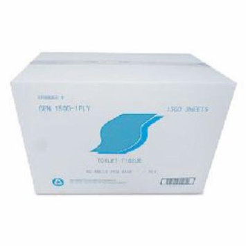 Small Roll Bath Tissue, 1-Ply, 1500 Sheets/Roll, 1.64 in Core