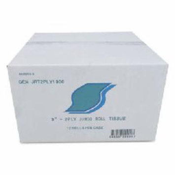 Jumbo Bath Tissue, 2-Ply, White, 9 in Diameter