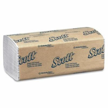 Kimberly-Clark Scott Single-fold Towel - 250 Per Pack - 16 / Carton - White