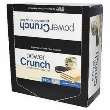 Power Crunch Cookies and Cream Crunch Protein Energy Bars, 1.4 oz, 12 count
