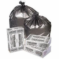 Titanium Low-Density Can Liners, 40-45 gal, 1.7 mil, 39 x 47, Silver