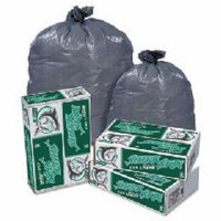 Shark Skin Linear Low Density Can Liners, 60 gallon, 1.1 mil, 38 x 58,