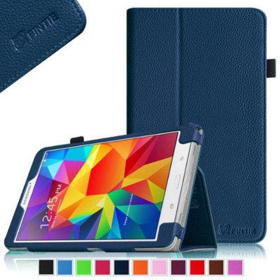 Fintie Folio Premium Vegan Leather Case Cover for Samsung Tab 4 8.0 8-Inch Tablet, Navy