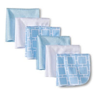 Circo Newborn 6 Pack Washcloth Set - Blue/White