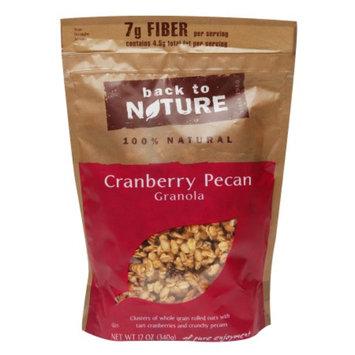 Back to Nature Cranberry Pecan Granola, 12 oz