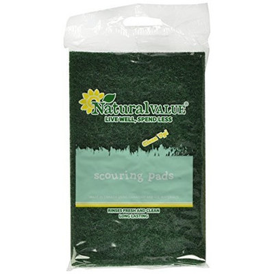 Natural Value Scouring Pads, 2 Pads (Pack of 24)