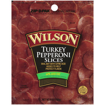 Wilson Turkey Pepperoni Slices, 6 oz